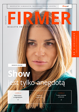 FIRMER 2/2020 - okładka z Dorotą Deląg