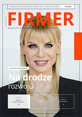FIRMER 1/2021 okładka z Karoliną Nowakowską